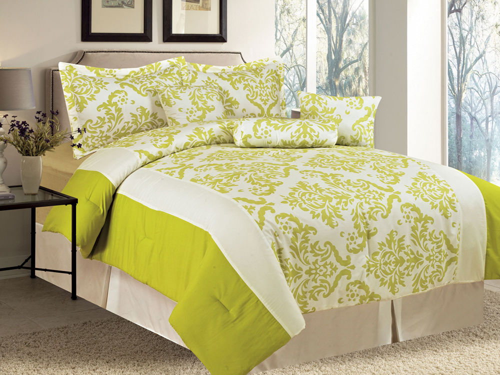 lime green bedding - 1000×750