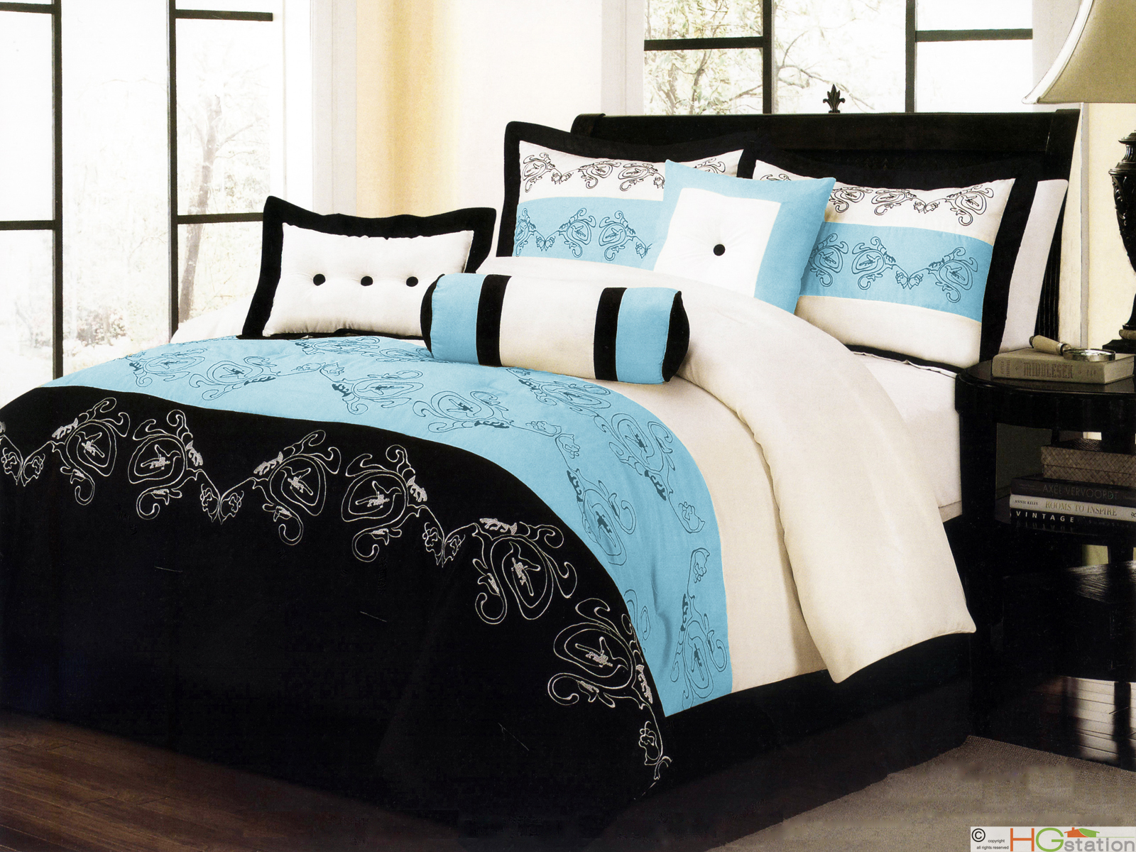 Black White And Blue Comforter Sets 28 Images Black
