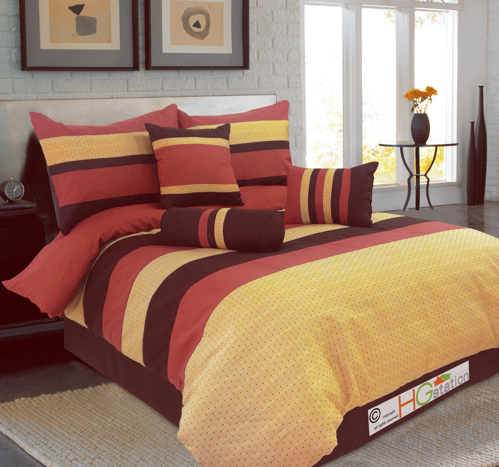 yellow and brown comforter sets