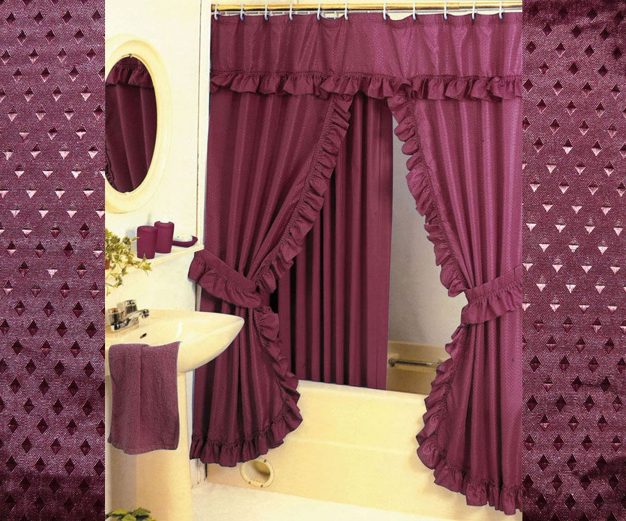 Curtains Pier One Imports Double Swag Shower Curtai
