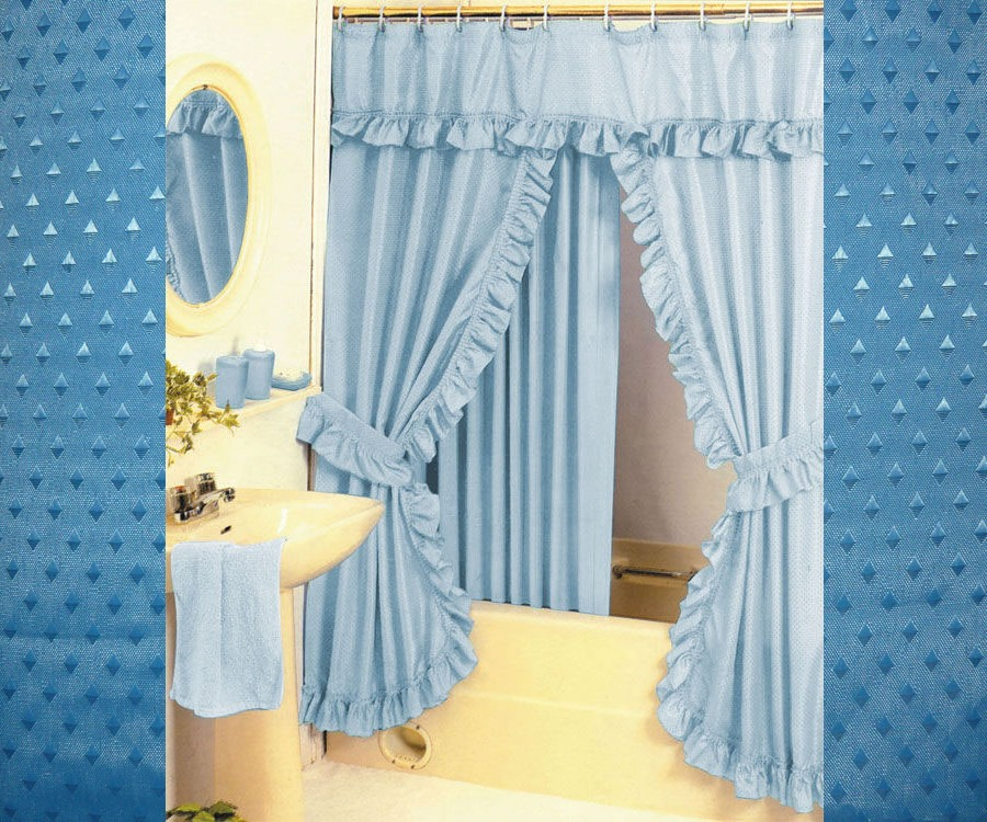 Outdoor Patio Shade Curtains Bright Colored Fabric Shower
