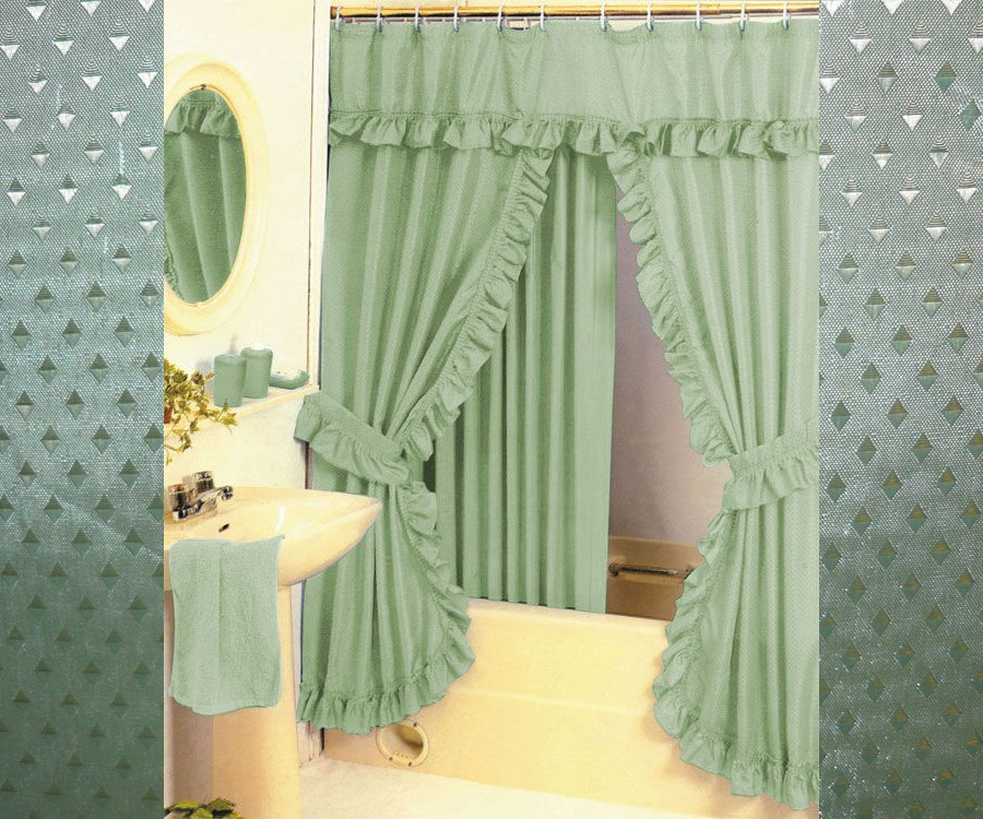 Curtains Ideas Double Swag Shower Curtain With Valance