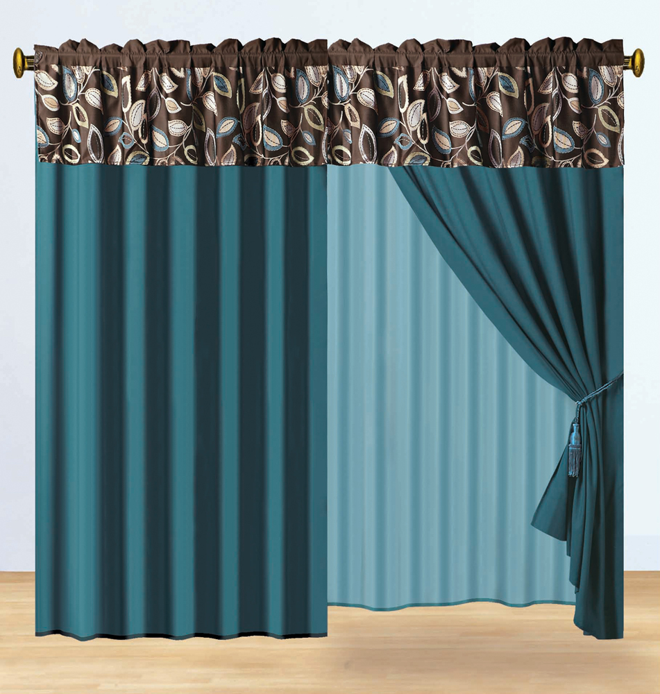 Brown And Teal Curtains Teal Brown Curtains Curtain Curtain Image Gallery Best Home Fashion