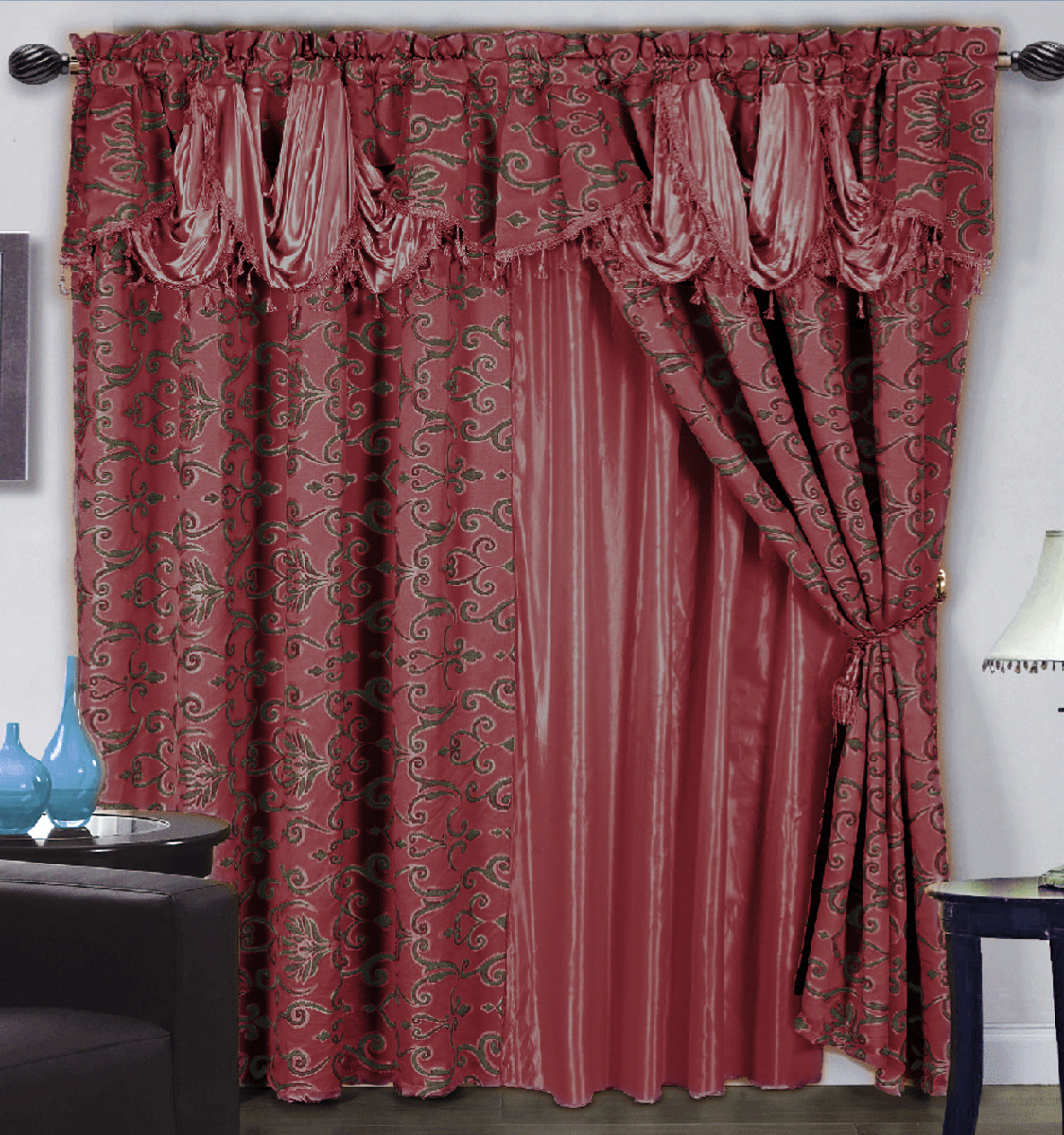 Curtains With Waterfall Valance 28 Images Regency Waterfall Valance Window Treatment United