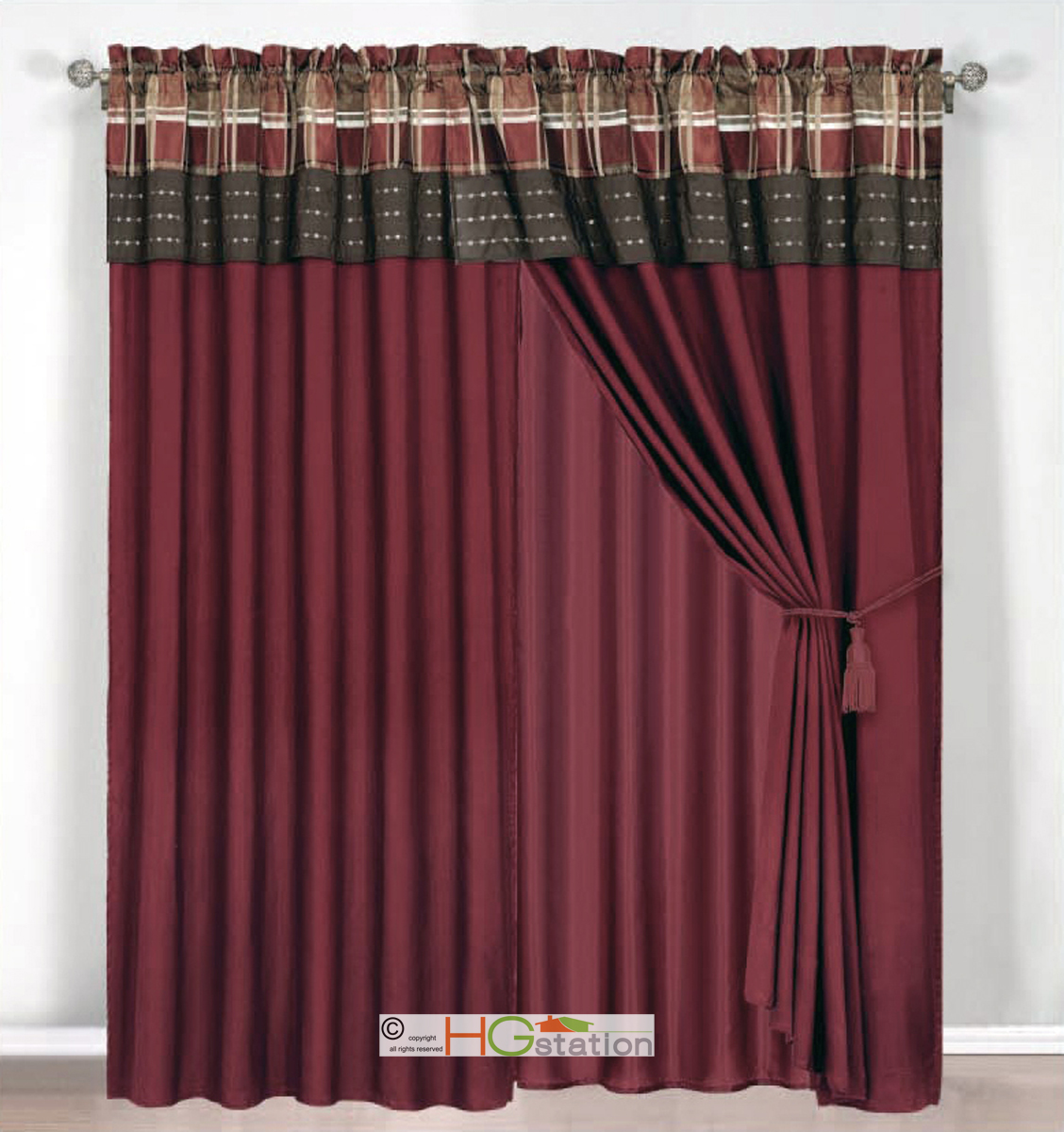 brown and rust colored curtains for bedroom pictures to