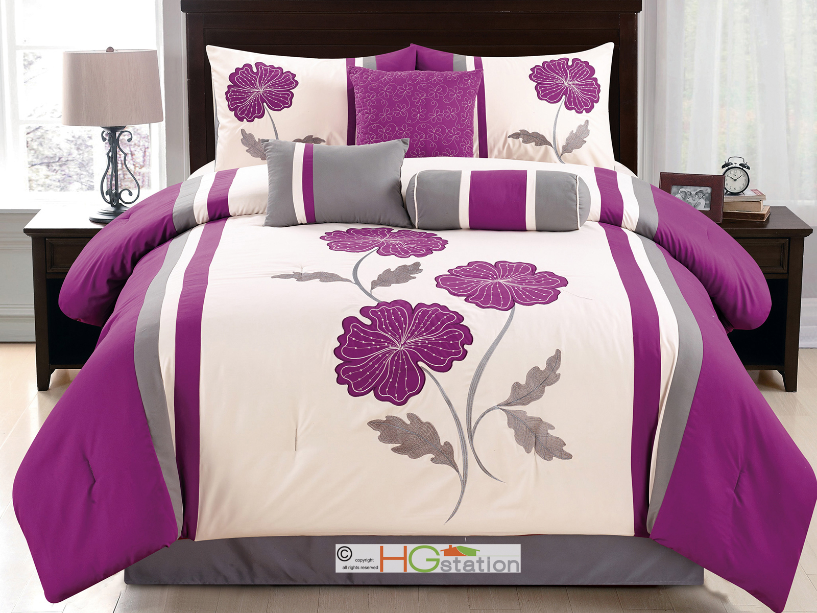 eggplant in box kiaana lilac copy comforter products