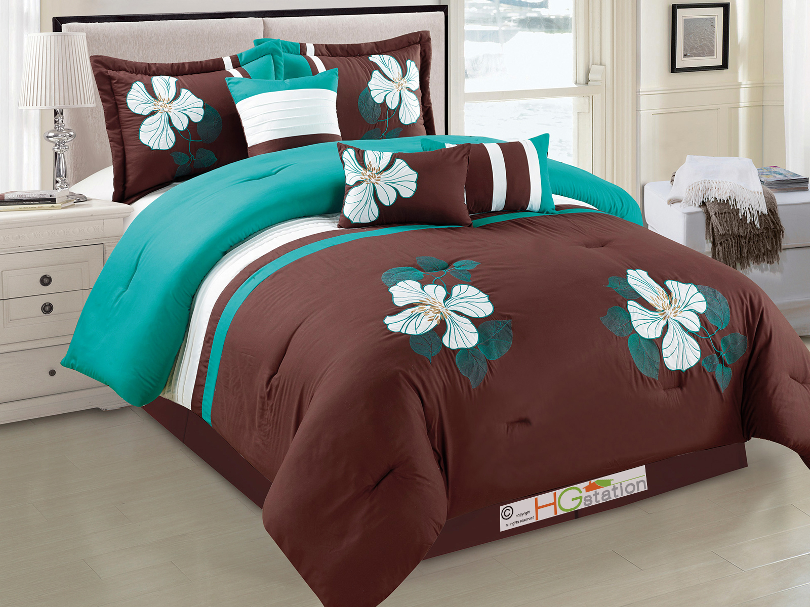 in intelligent sets design laila queen piece set teal pin comforter size full
